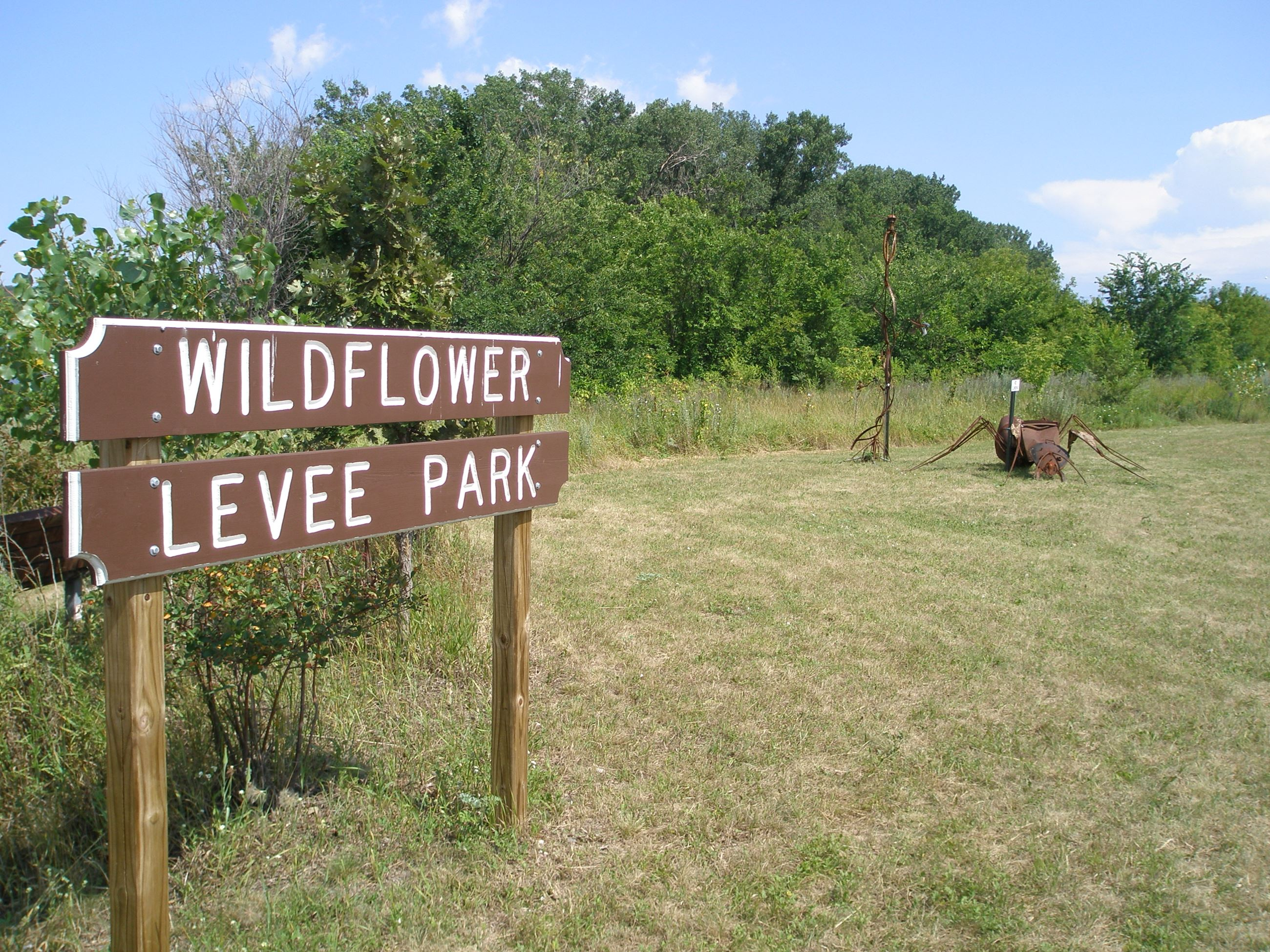 Wildflower Levee Park Sign