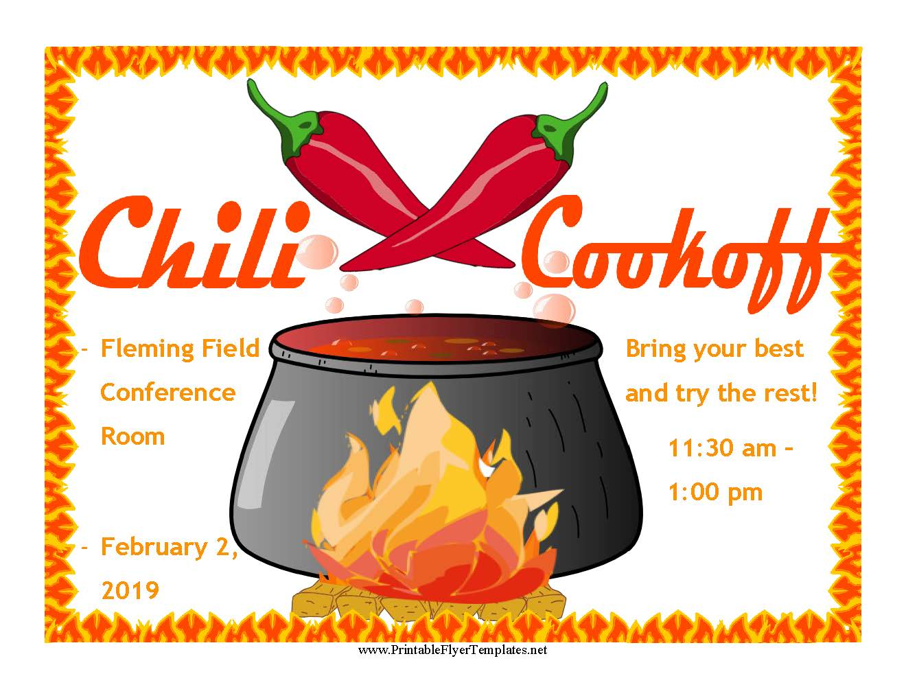 Chili Cook-Off Flyer 2019 picture