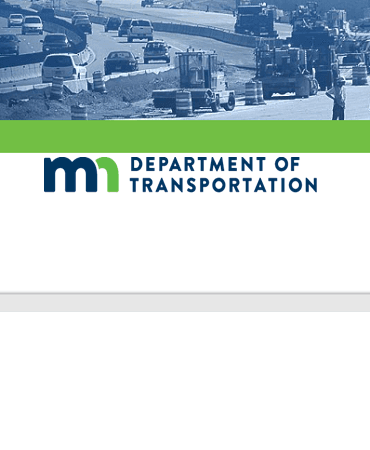 Image of MN DOT Logo and road construction