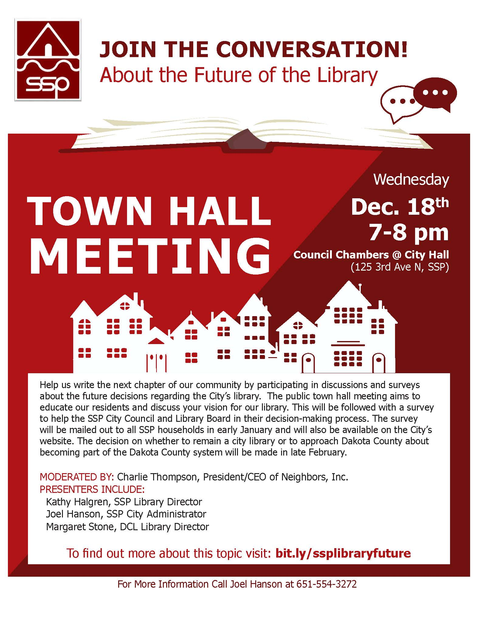 Image of Town Hall Meeting Flyer Notice