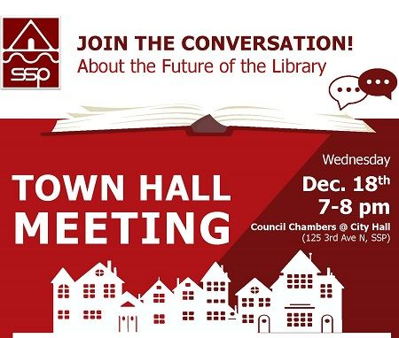 Image of a notice for a Town Hall Meeting on Dec. 18, 2019