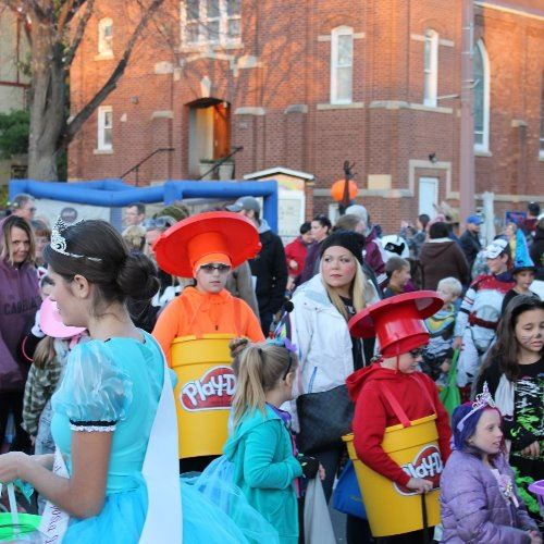 Image of people dressed in costume at the Great Halloween Get Together event